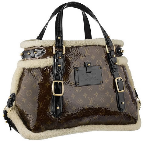 Louis Vuitton Thunder Handbag Limited Edition Monogram And Shearling JYiwVtV6qq