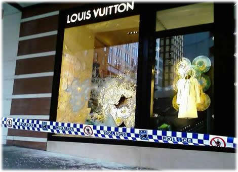 Louis Vuitton Robbed