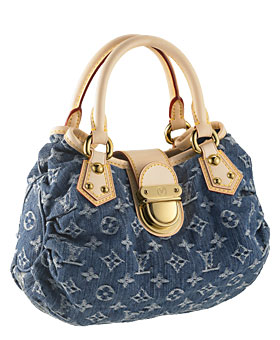 Louis Vuitton Monogram Denim Pleaty Handbag