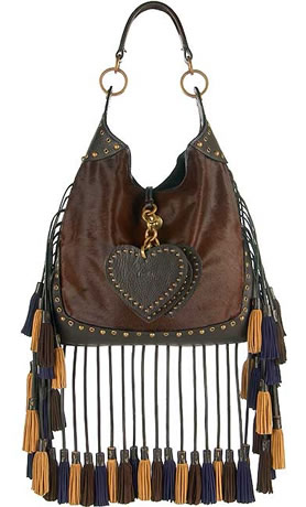 Luella Fringed Tassel Shoulder Bag
