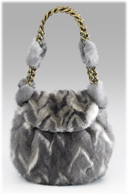 Marc Jacobs Mink Flap Shoulder Bag