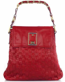 Marc Jacobs Elsa Woven Leather Bag