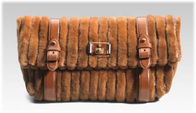 Marc Jacobs Monica Mink Python Clutch
