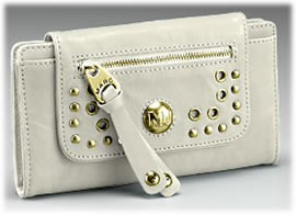 Marc by Marc Jacobs Eyelet Leather Flap Clutch
