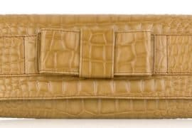 Michael Kors Stamped Bow Clutch