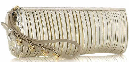 Miu Miu Leather Plisse Clutch