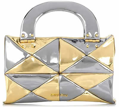 Miu Miu Metallic Patchwork Handbag
