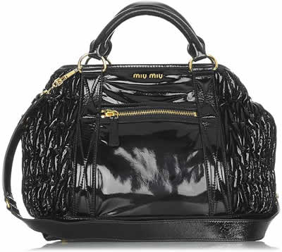 Miu Miu Patent Leather Tote