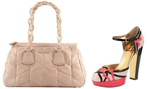 Miu Miu Quilted Chevron Shoulder Bag
