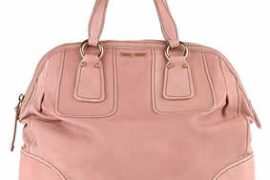 Miu Miu Washed Leather Tote