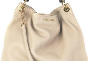Miu Miu Wooden Handle Tote