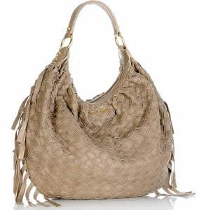 Miu Miu Woven Leather Hobo