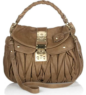 Miu Miu Coffer Leather Handbag