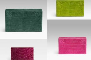 Nancy Gonzalez Crocodile Box Clutch