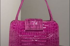 Nancy Gonzalez Shiny Croc Tote