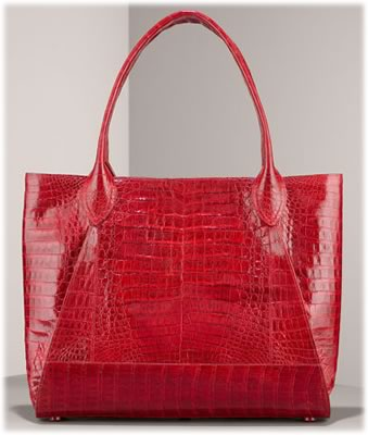 Nancy Gonzalez Shiny Crocodile Tote