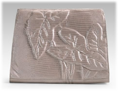 Nancy Gonzalez Silver Ring Lizard Clutch