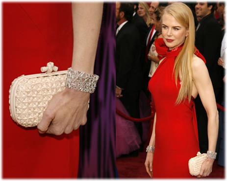 Nicole Kidman Oscars Bottega Veneta Clutch