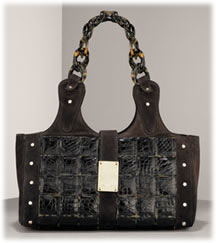 Oscar de la Renta Alligator Tile Satchel Handbags