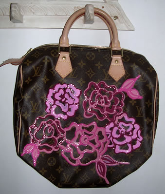 Painted Louis Vuitton Speedy