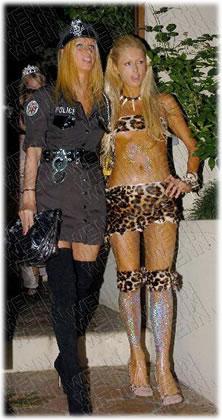 Paris and Nicky Halloween