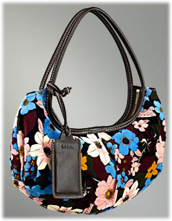Paul Smith Floral Velvet Handbag