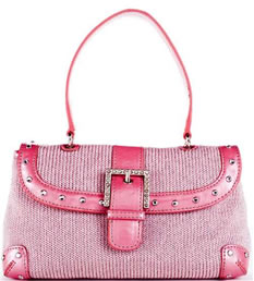 Pink Ribbon Sparkle Mini Top Handle