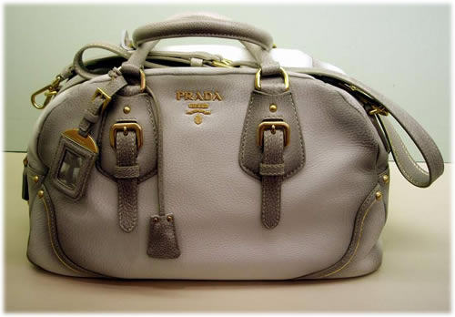 prada grey purse