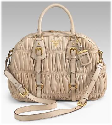 Prada Nappa Gaufre Convertible Handbag