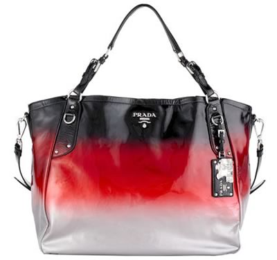 prada ombre patent leather tote