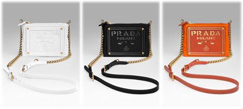 Prada Tessuto Oro Chain Bag