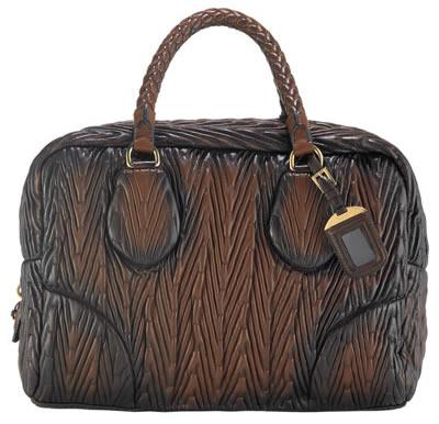 Prada Napa Chevron Antic Handbag