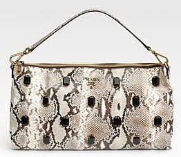Prada Pitone Pietre Shoulder Bag