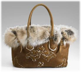 Prada Bags Shearling Tote