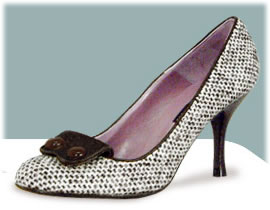 "Rafe Marylebone Donegal Wool""Valerie\"" Rounded High Heels"