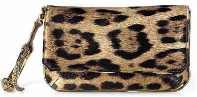 Roberto Cavalli Animal Print Bracelet Bag
