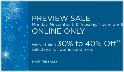 Saks Preview Sale