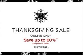 Saks Thanksgiving Sale!