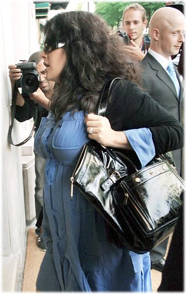 Salma Hayek YSL bag
