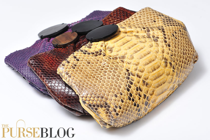 The Pane Bag In Rustic Grey Hand Waxed Python It Is A Completely Unique Design That Luxurious And Distinctly Fun Mixes Luxe Or Alligator