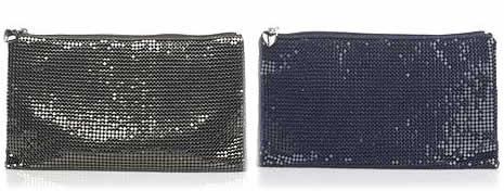 scoop mesh clutch bag