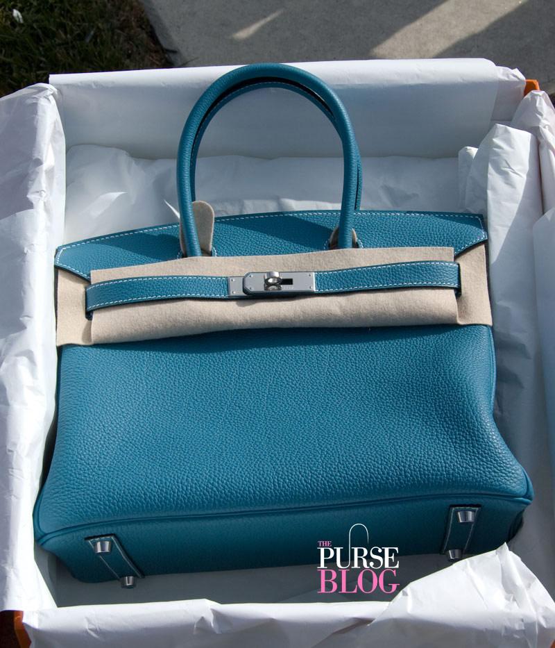 Hermes birkin blue jean 30