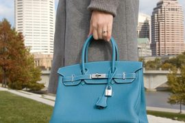 DKNY Croc-Effect Leather Shopper