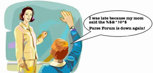 stupid purse forum