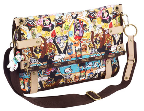 Tokidoki For Lesportsac Ciao Large Flap Bag