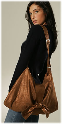 Twelfth St. by Cynthia Vincent Bronze Metallic Leather Bag