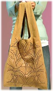 Twelfth Street Suede Studded Shoulder Bag