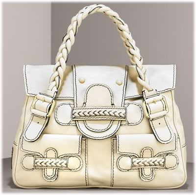 Valentino Braided Leather Shoulder Bag