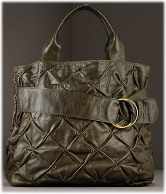 Violette No Zi Eres Ruched Leather Tote1