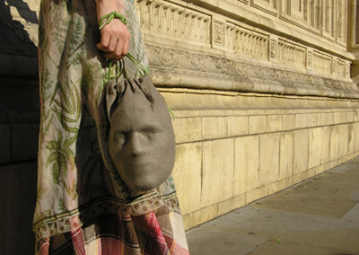 Head Hand Bag by Yael Mer